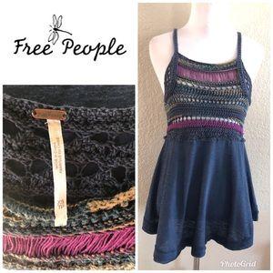 Free People crochet tank